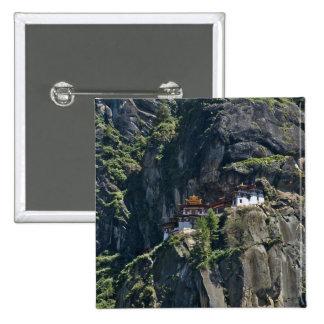 Taktsang Monastery on the cliff, Paro, Bhutan Button