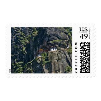 Taktsang Monastery on the cliff, Paro, Bhutan Stamp