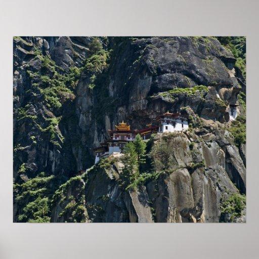 Taktsang Monastery on the cliff, Paro, Bhutan Posters