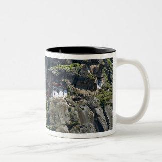 Taktsang Monastery on the cliff, Paro, Bhutan Two-Tone Coffee Mug