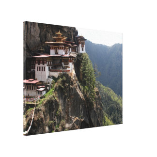 taktsang view canvas print