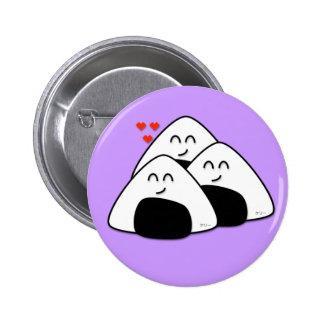 Takusan Oishii Onigiri Button (Lavender)