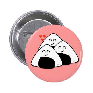 Takusan Oishii Onigiri Button (Soft Pink)