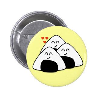Takusan Oishii Onigiri Button (Soft Yellow)