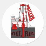Taladradora del pozo de petróleo, pegatina del
