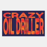 Taladradora loca del aceite pegatinas