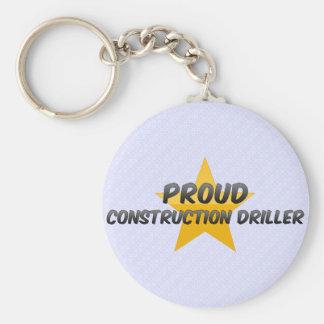 Taladradora orgullosa de la construcción llavero personalizado
