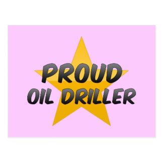 Taladradora orgullosa del aceite tarjeta postal