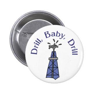 Taladro, bebé, botón del taladro