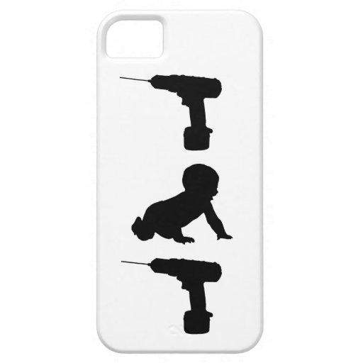 Taladro del bebé del taladro iPhone 5 Case-Mate carcasa