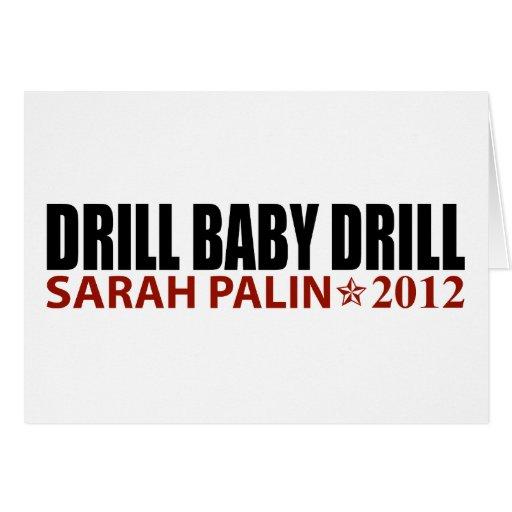Taladro del bebé del taladro - Sarah Palin 2012 Felicitación