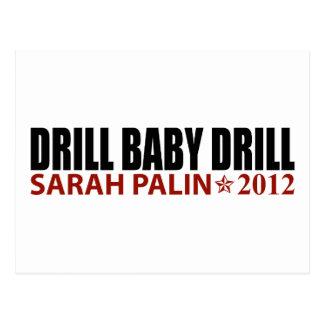 Taladro del bebé del taladro - Sarah Palin 2012 Tarjetas Postales