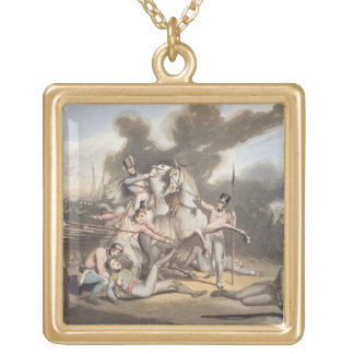 Talavera, 28th July 1809, from 'The Victories of t Square Pendant Necklace
