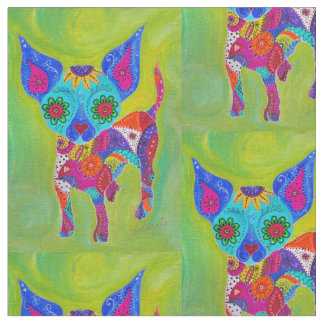 Talavera Chihuahua Fabric