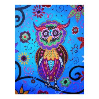 Talavera Owl Mexican Painting Letterhead