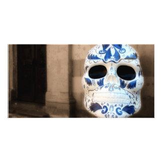 Talavera Skull, San Miguel de Allende, Photo Card