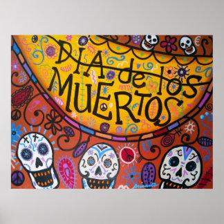 TALAVERA SKULLS dia de los muertos Poster