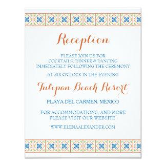 Talavera Spanish Tile Reception Card