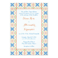 Talavera Spanish Tile Wedding Invitation