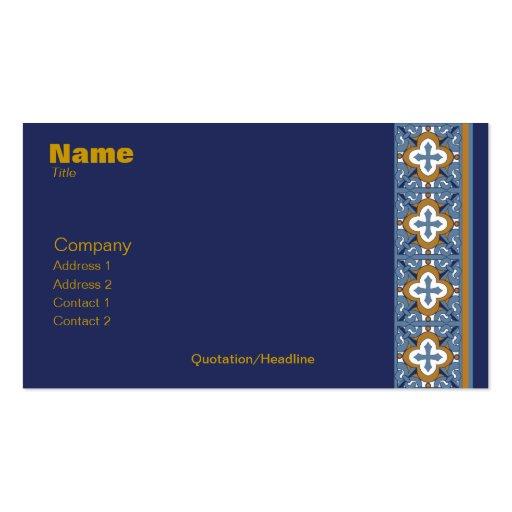 Talavera Tile Business Card Blank Back