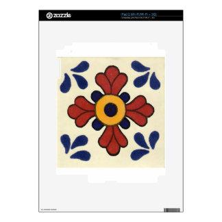 Talavera tile in red & blue iPad 2 skin