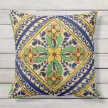 "Talavera Tile Outdoor Pillow<br><div class=""desc"">Talavera Tile</div>"