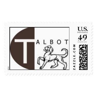 Talbot Dog Postage Stamp