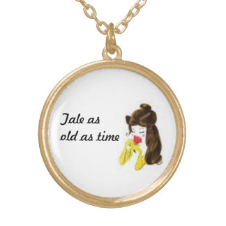 Tale as old as time gold plated necklace