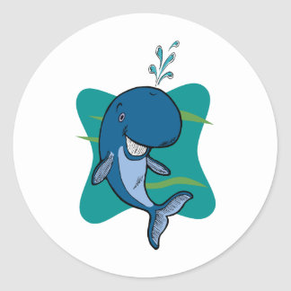 Tale of a Whale Round Stickers