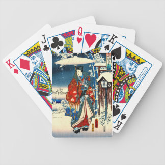 Tale of Genji 1853 Right Bicycle Playing Cards