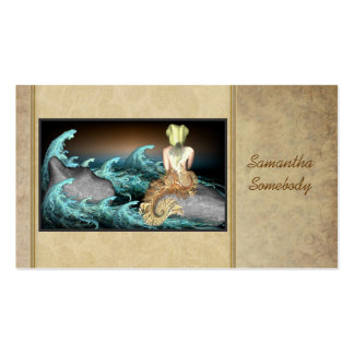 Tale of the Mermaid Art Profile Cards Double-Sided Standard Business Cards (Pack Of 100)