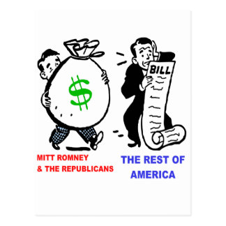 Talegas grandes Mitt Romney contra los americanos Postal