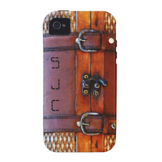 Taleguilla antigua del vintage con iniciales perso Case-Mate iPhone 4 fundas