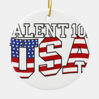 Talent 101 USA Products Ceramic Ornament