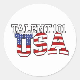 Talent 101 USA Products Classic Round Sticker