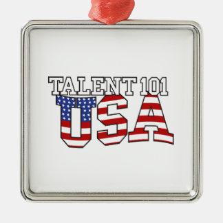 Talent 101 USA Products Metal Ornament