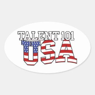 Talent 101 USA Products Oval Sticker