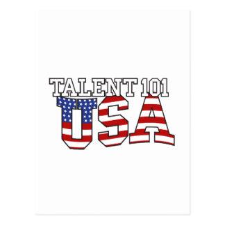 Talent 101 USA Products Postcard
