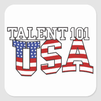 Talent 101 USA Products Square Sticker