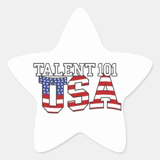 Talent 101 USA Products Star Sticker