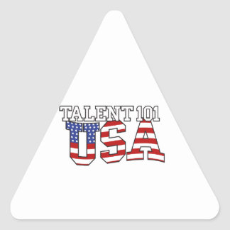 Talent 101 USA Products Triangle Sticker