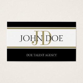 Talent Agency Gold Stripe W/W Business Card