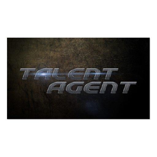 Talent agent Business card Plantilla De Tarjeta De Negocio