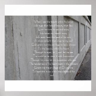 Talent Poem Poster