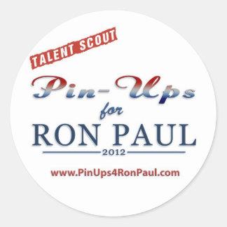 Talent Scout/Pin Ups 4 Ron Paul Sticker
