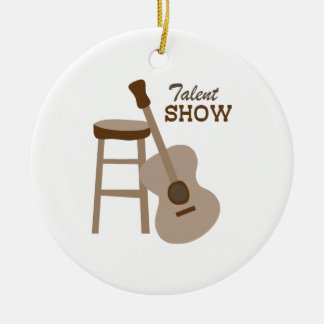Talent Show Double-Sided Ceramic Round Christmas Ornament