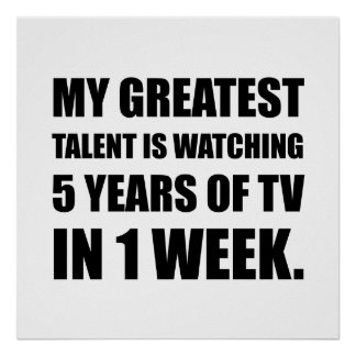 Talent Watching Television Poster