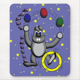 Talented Bunny Mouse Pad