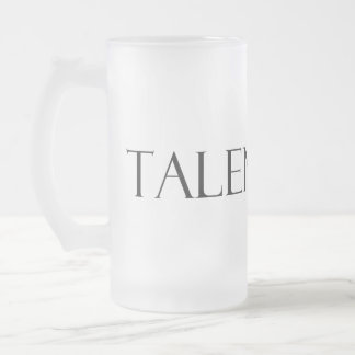Talented Drinker Frosted Glass Beer Mug
