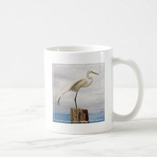 Talented Egret   Fort Myers Beach, Florida Coffee Mug